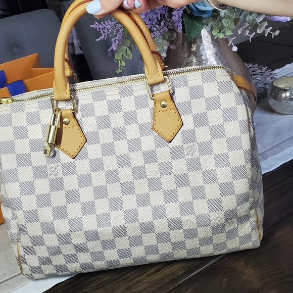 Louis Vuitton Handbags - Louis Vuitton Speddy 30 Damier Azure